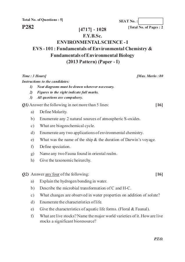 F Y B Sc(2013 pattern) Old Question Papers:Dr Kshirsagar