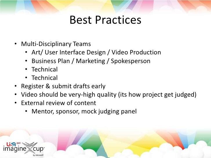 Best Practices<br /><ul><li>Multi-Disciplinary Teams