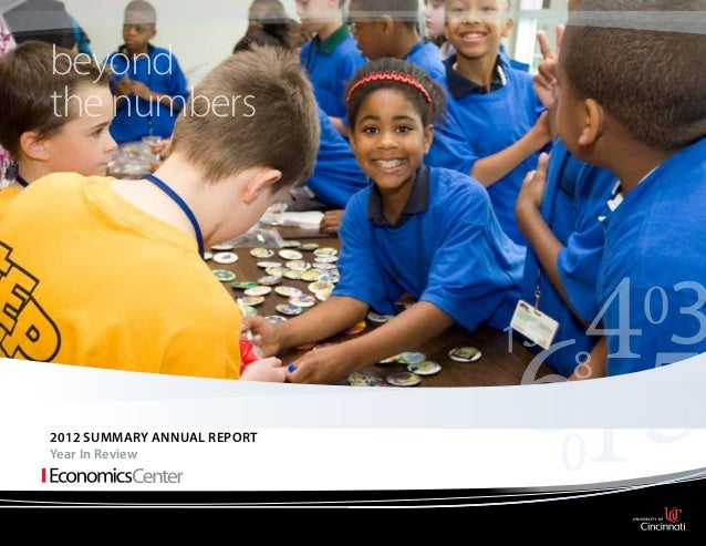 beyond the numbers  2012 Summary Annual report Year In Review
