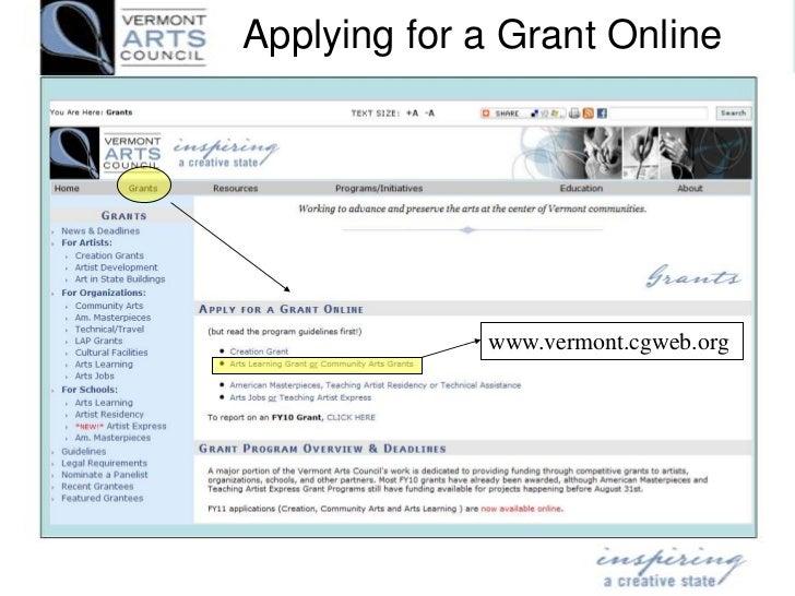 FY12 Vermont Arts Council Grants Presentation