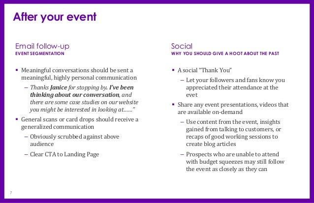 Event before during after 7 after your event altavistaventures Images