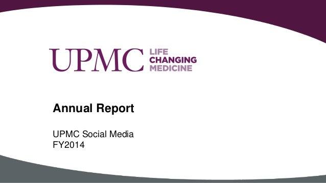 UPMC Social Media FY2014 Annual Report