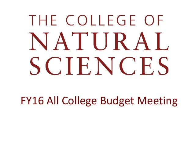 FY16 All College Budget Meeting