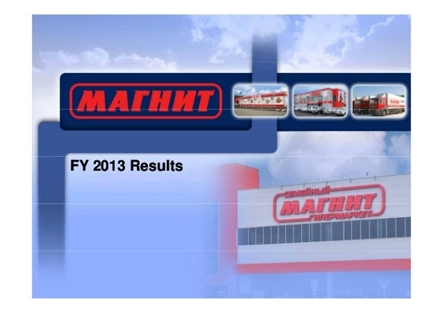 FY 2013 Results
