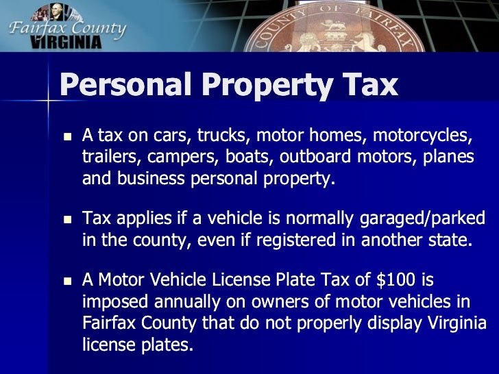 Fairfax County Personal Property Tax >> 2013 Tax Facts General Information About Fairfax County Taxes