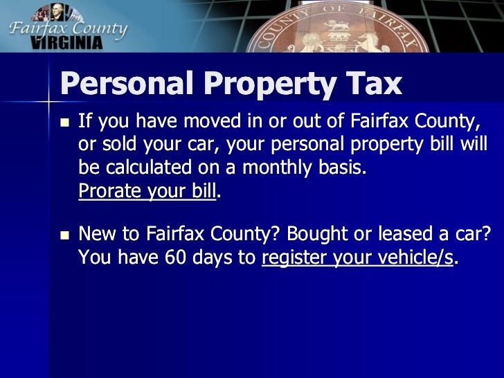 Fairfax County Car Tax >> 2013 Tax Facts General Information About Fairfax County Taxes