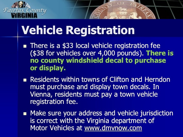 Fairfax County Car Tax >> 2013 Tax Facts: General Information about Fairfax County Taxes