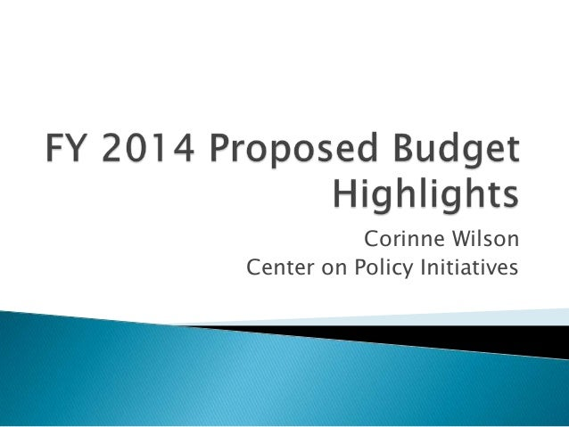 Corinne WilsonCenter on Policy Initiatives