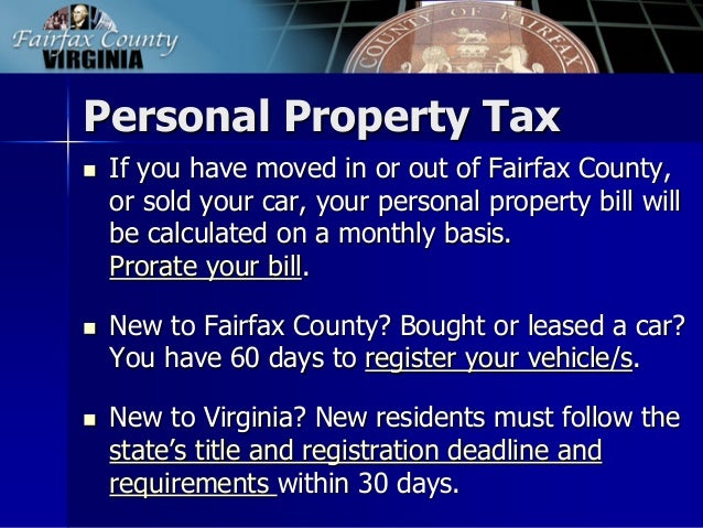 Property Tax On Vehicles In Virginia