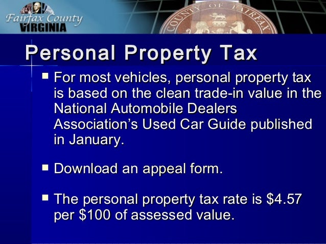 Fairfax County Personal Property Tax >> Fairfax County FY2014 Tax Facts