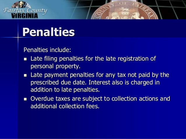Fairfax County Personal Property Tax >> FY 2015 Tax Facts