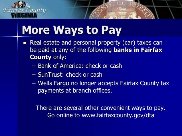 Fairfax County Car Tax >> FY 2015 Tax Facts