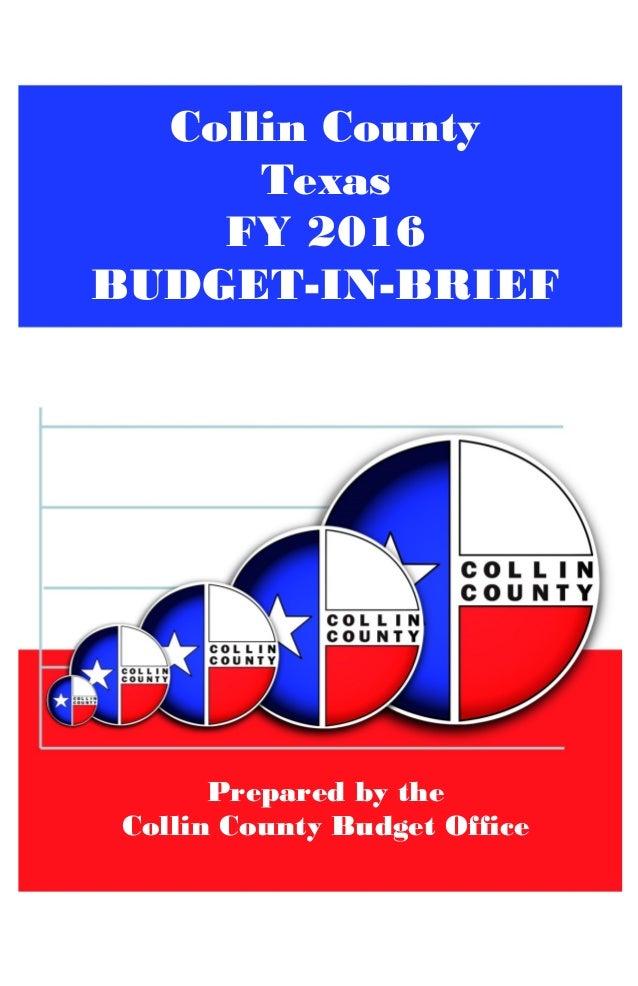 collin county fy2016 budget in brief ccad