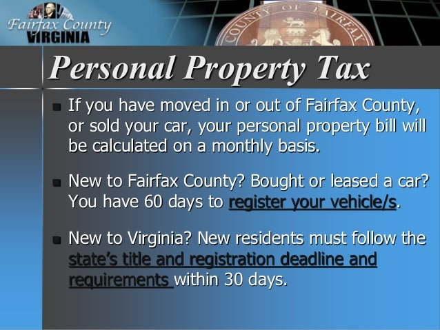 Personal Property Tax On A Leased Vehicle Virginia
