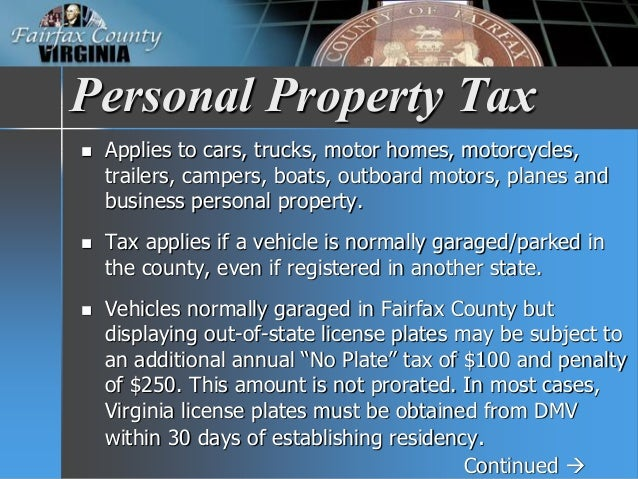 Fairfax County Car Tax >> FY 2017 Tax Facts
