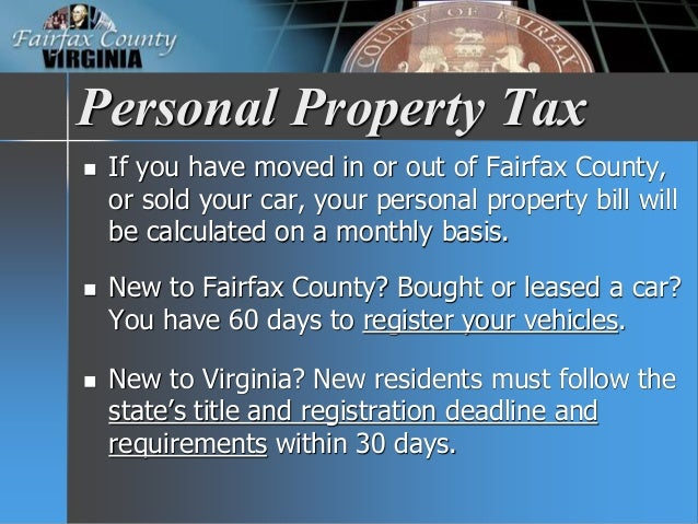 Fairfax County Personal Property Tax >> Fy 2018 Tax Facts