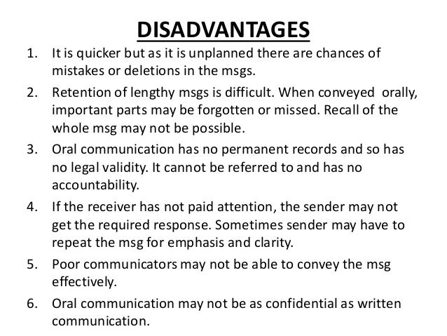 disadvantages of body language