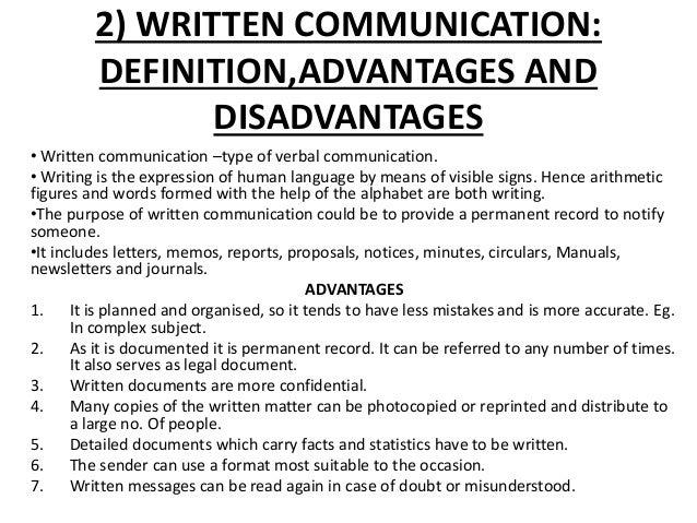 WRITTEN COMMUNICATION DEFINITION DOWNLOAD