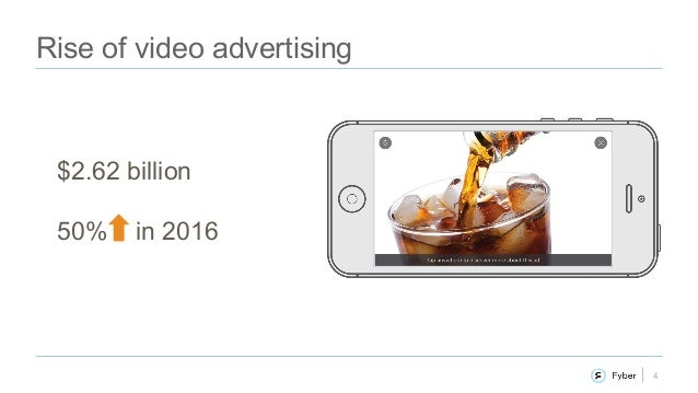 4 Rise of video advertising $2.62 billion 50% in 2016