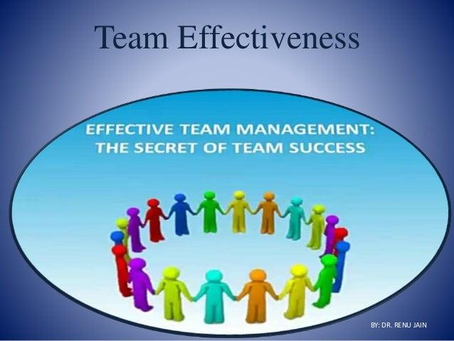 Team Effectiveness BY: DR. RENU JAIN
