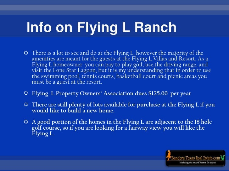 Fying L Ranch, Bandera Texas Golf Community