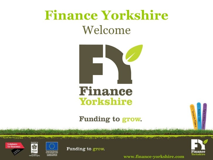 Finance Yorkshire Welcome www.finance-yorkshire.com