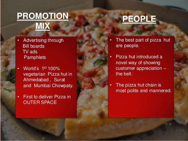 pizza hut market demographics Pizza hut is an american restaurant chain and international franchise founded in  1958 by dan  this was discontinued on october 27, 2009, in the dallas market   96, in chapter 12: the china market + the china global demographic.