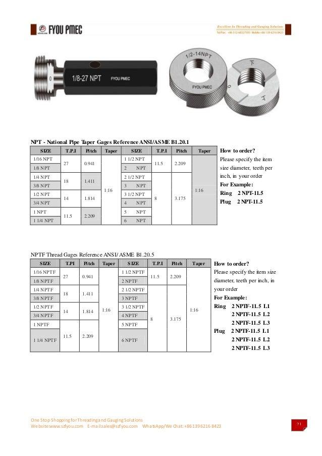 1 Inch Gauges >> Fyou pmec gauges catalog2017(api thread gauges&api thread measuri…