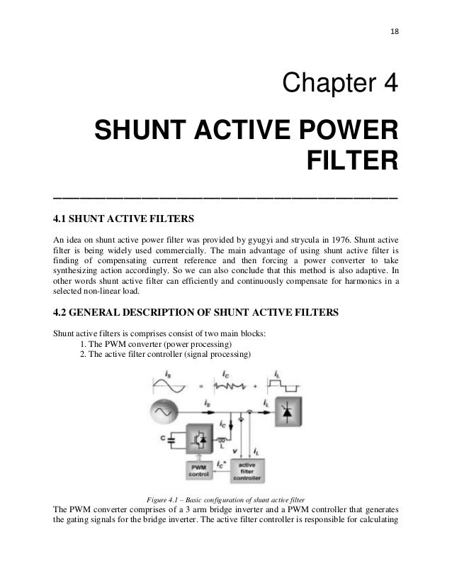 shunt active filter thesis Fulltext - power quality enhancement using shunt active power filter based on  particle swarm  phd thesis, technical university of berlin, berlin.