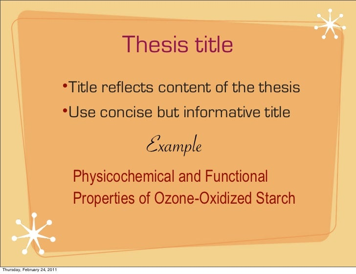 how to write cover page of thesis