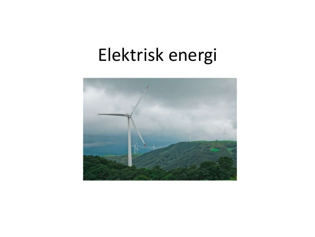Elektrisk energi