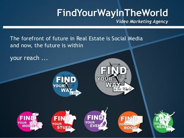 FindYourWayInTheWorld                                           Video Marketing AgencyThe forefront of future in Real Esta...