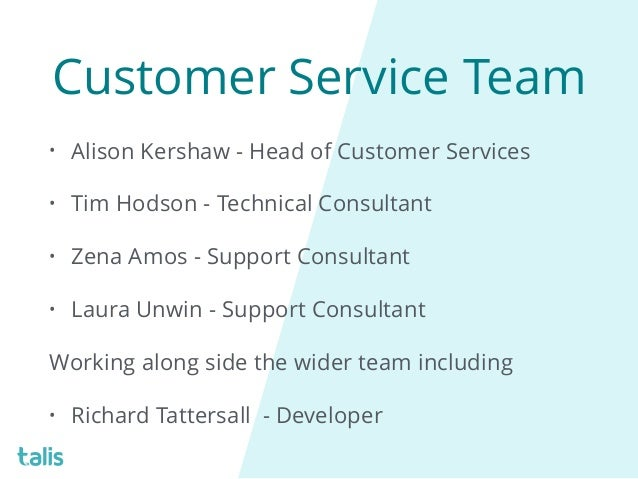 A day in the life of the Talis Customer Service Team - Zena Amos, Tal…