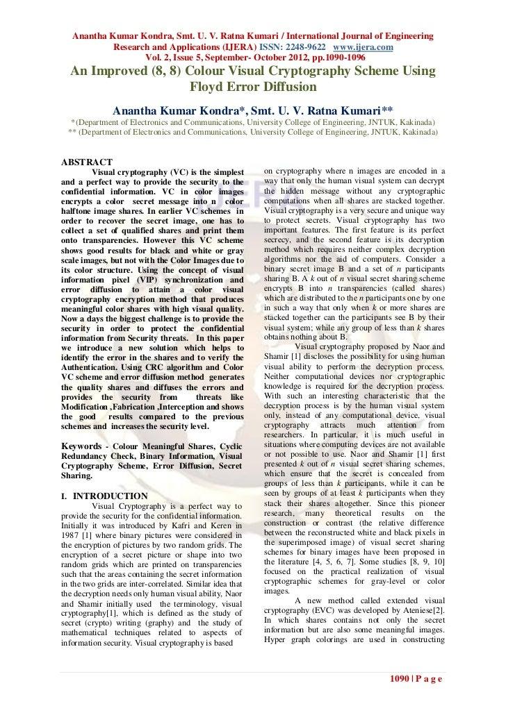 Anantha Kumar Kondra, Smt. U. V. Ratna Kumari / International Journal of Engineering            Research and Applications ...