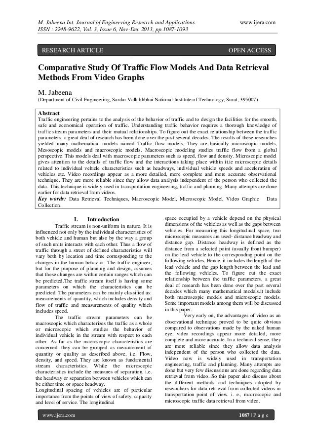 M. Jabeena Int. Journal of Engineering Research and Applications ISSN : 2248-9622, Vol. 3, Issue 6, Nov-Dec 2013, pp.1087-...