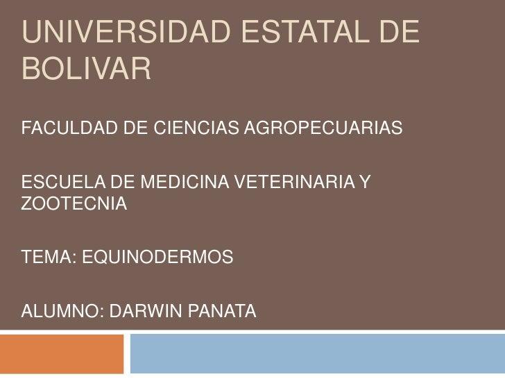 UNIVERSIDAD ESTATAL DE BOLIVAR<br />FACULDAD DE CIENCIAS AGROPECUARIAS<br />ESCUELA DE MEDICINA VETERINARIA Y ZOOTECNIA<br...