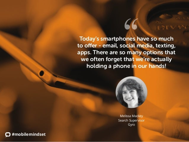 #mobilemindset Today's smartphones have so much to offer - email, social media, texting, apps. There are so many options t...