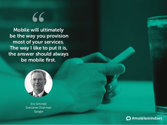 #mobilemindset Mobile will ultimately be the way you provision most of your services. The way I like to put it is, the ans...