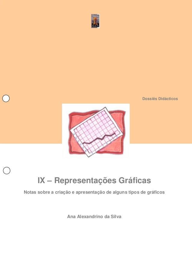Dossiês Didácticos IX – Representações Gráficas Notas sobre a criação e apresentação de alguns tipos de gráficos Ana Alexa...