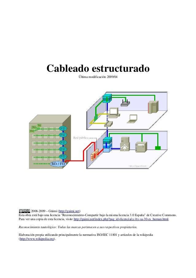"""Cableado estructurado Última modificación 2009/04 2008-2009 – Güimi (http://guimi.net) Esta obra está bajo una licencia """"R..."""