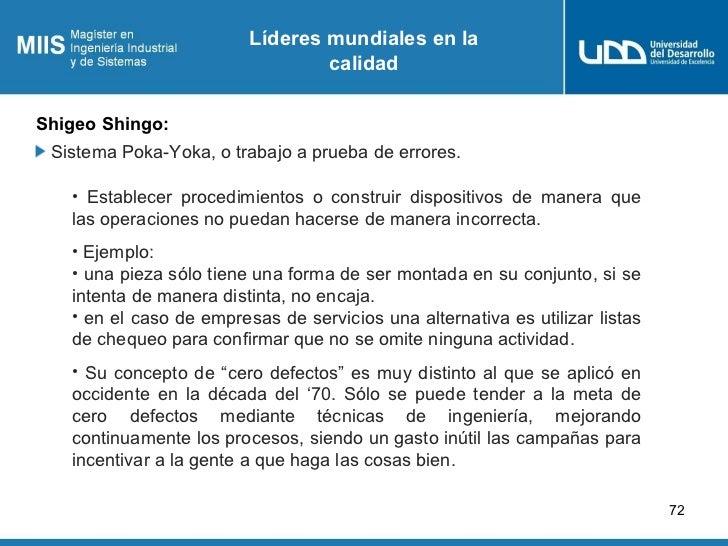 Líderes mundiales en la                                 calidadShigeo Shingo: Sistema Poka-Yoka, o trabajo a prueba de err...