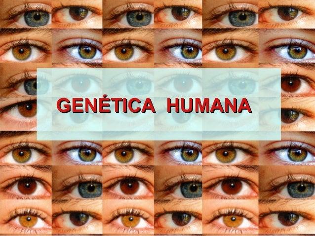 GENGENÉTICA HUMANAÉTICA HUMANA