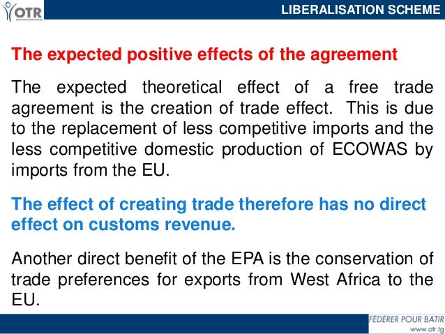 The Impact Of Economic Partnership Agreement On Customs Revenues And