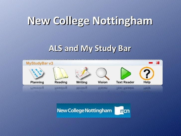New College Nottingham ALS and My Study Bar