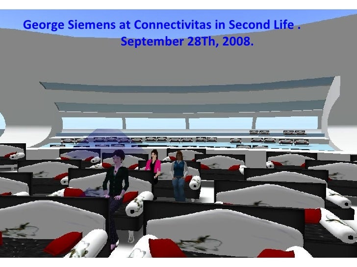 George Siemens at Connectivitas in Second Life . September 28Th, 2008.