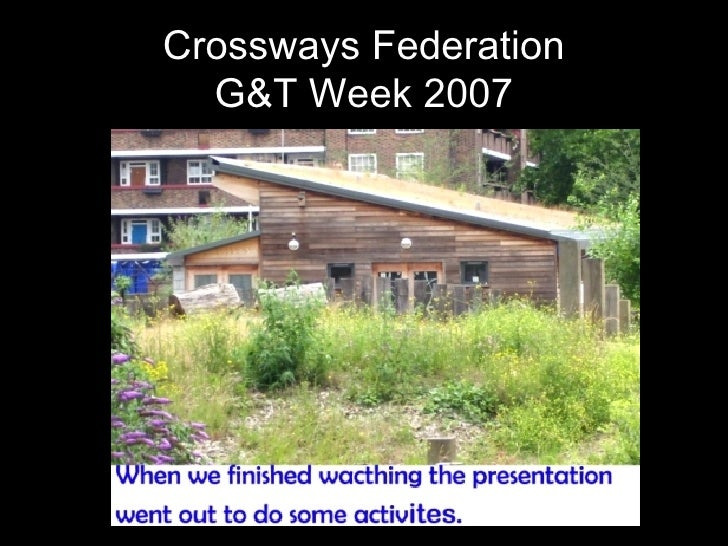 Crossways Federation G&T Week 2007