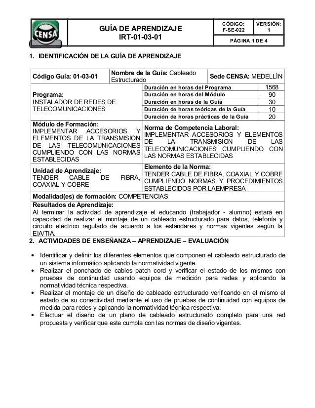 CÓDIGO:      VERSIÓN:                         GUÍA DE APRENDIZAJE                        F-SE-022        1                ...