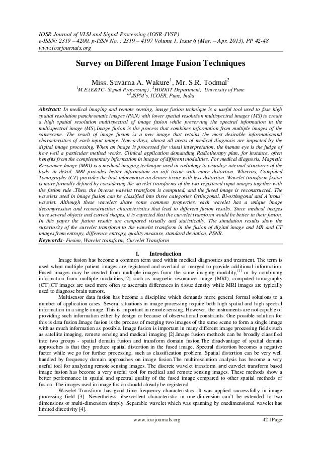 IOSR Journal of VLSI and Signal Processing (IOSR-JVSP) e-ISSN: 2319 – 4200, p-ISSN No. : 2319 – 4197 Volume 1, Issue 6 (Ma...