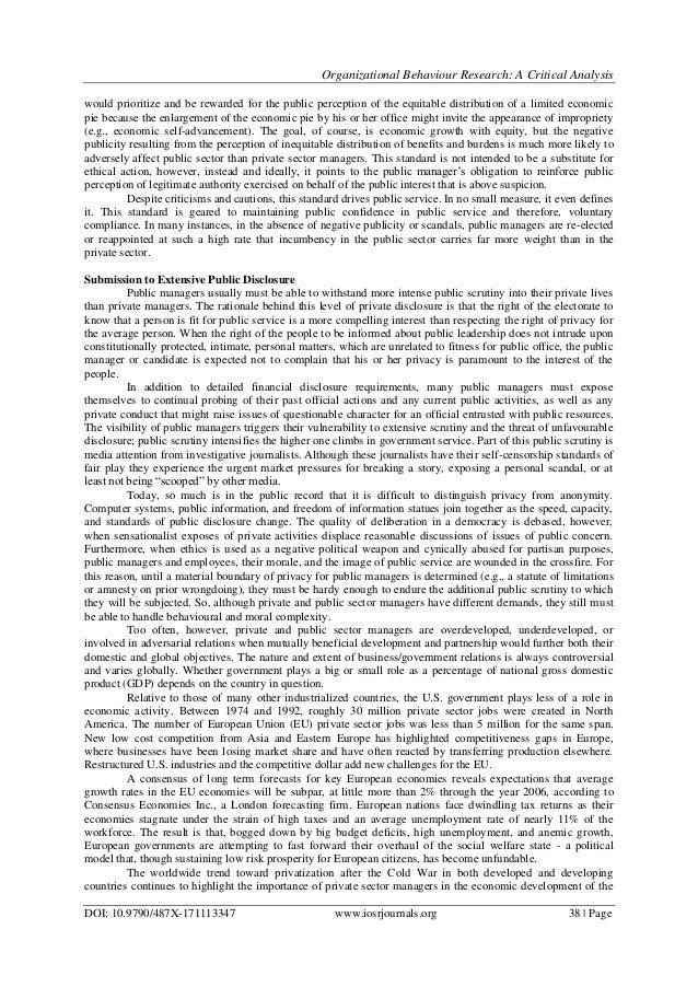 Organizational studies essays