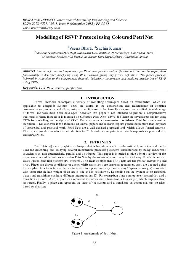 RESEARCH INVENTY: International Journal of Engineering and ScienceISSN: 2278-4721, Vol. 1, Issue 9 (November 2012), PP 33-...